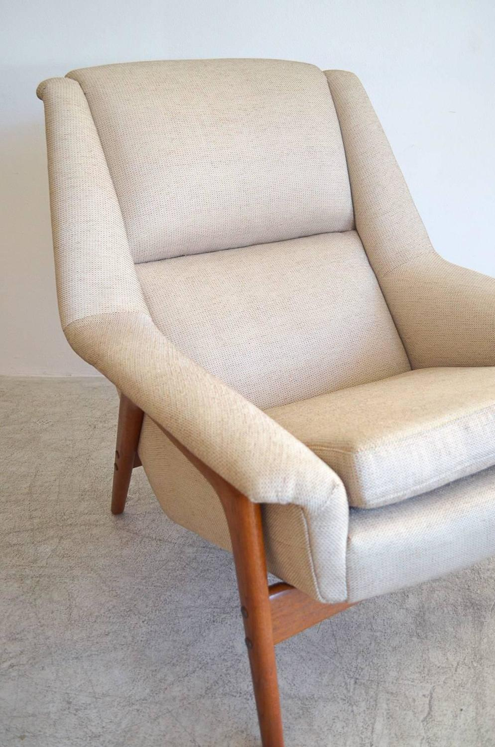 Folke Ohlsson Lounge Chair And Ottoman At 1stdibs