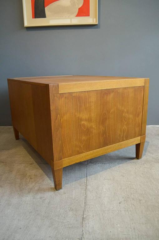 Bleached walnut two door cabinet or bedside table by baker for Bleached maple kitchen cabinets