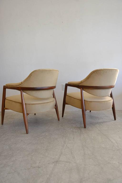 Pair Of Walnut Lounge Chairs By Maurice Bailey For