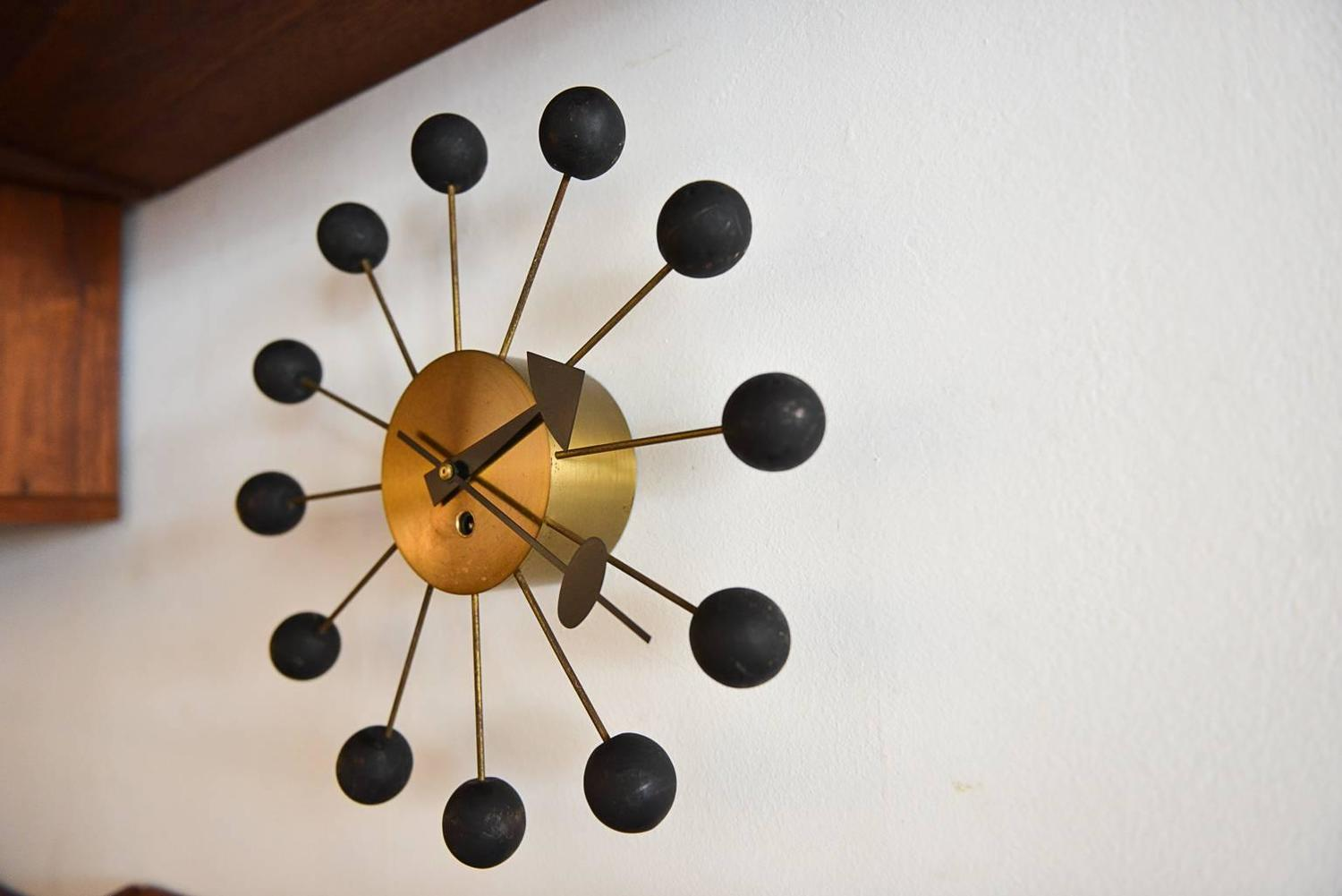 Original george nelson ball clock at 1stdibs for Nelson wall clock
