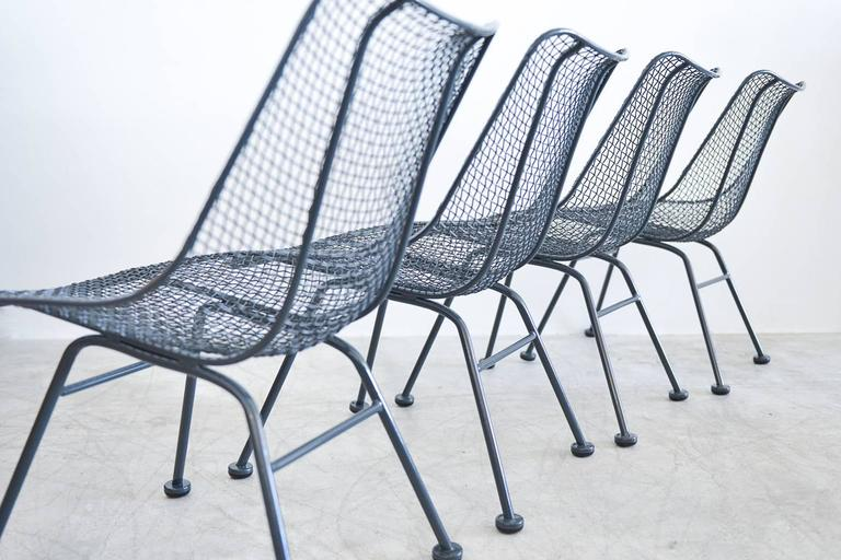 Set Of Four Russell Woodard Sculptura Patio Chairs With
