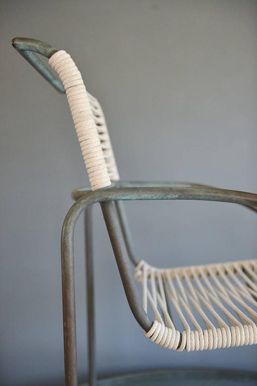 Mid-20th Century Kipp Stewart for Terra Tubular Bronze Outdoor Dining Set