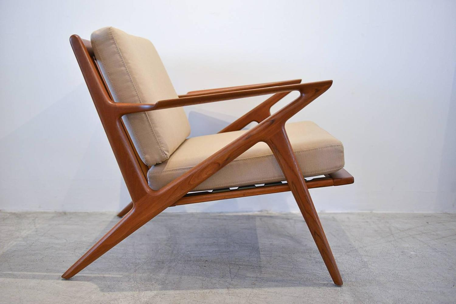 Z lounge chair by poul jensen for selig at 1stdibs for Poul jensen z chair