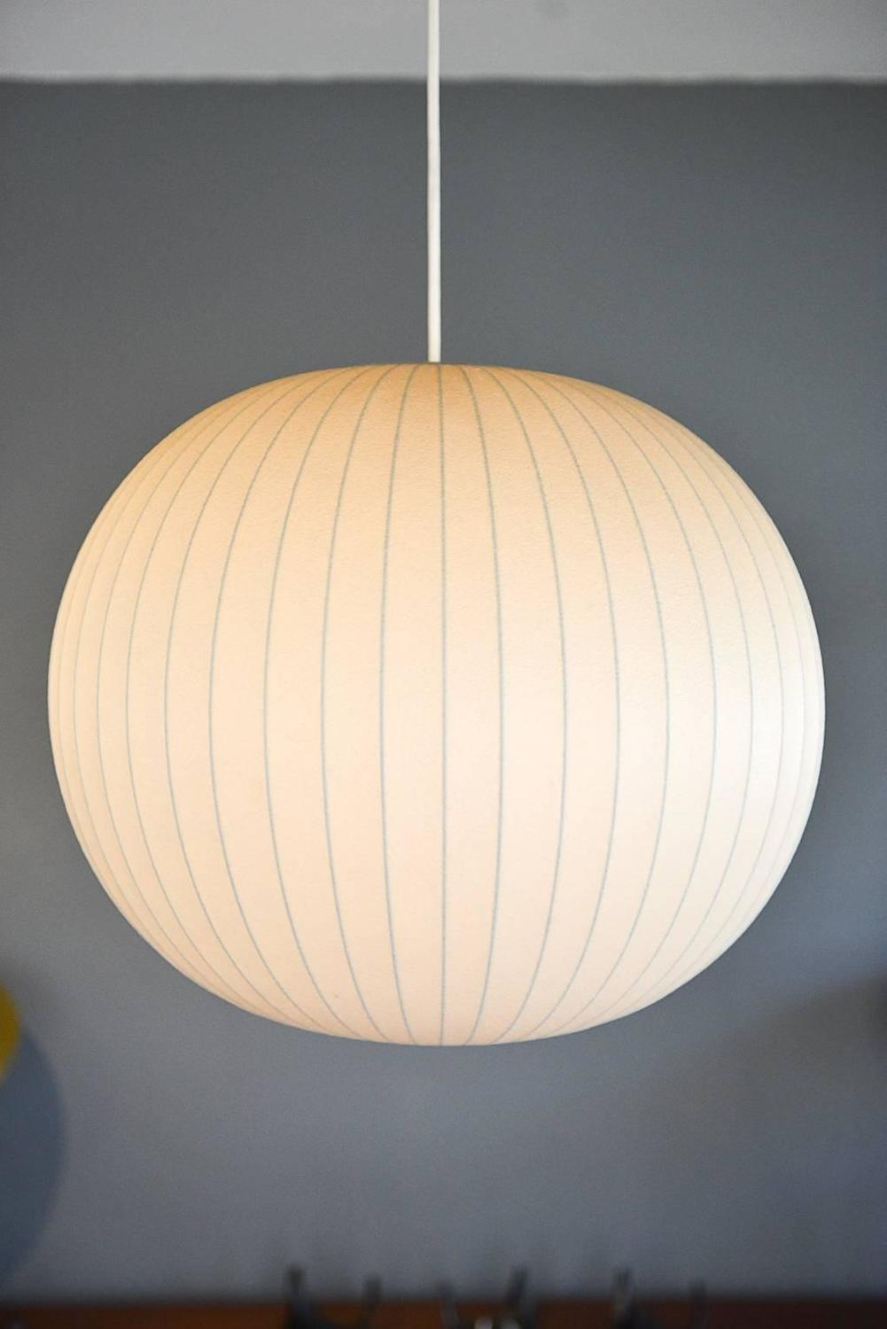 luxury interior saucer manufactured modern lamp george lamps nelson home fiberglass pics of bubble shaped awesome