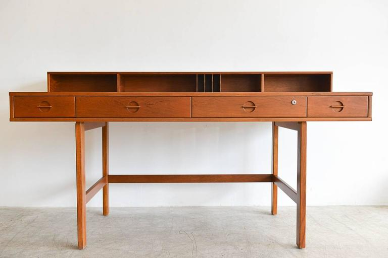 Teak Flip Top Partners Desk By Jens Quistgaard For Peter Løvig Circa 1960 2
