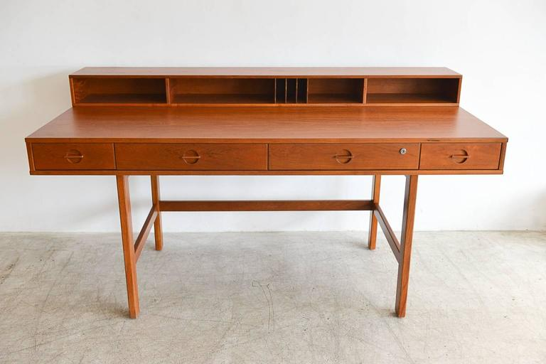 Teak Flip Top Partners Desk By Jens Quistgaard For Peter Løvig Circa 1960 3