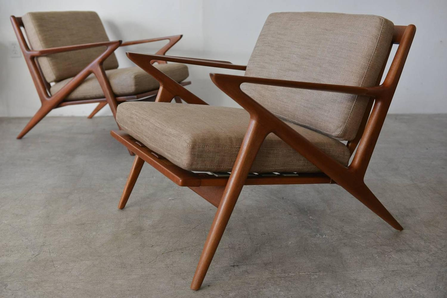 Pair Of Poul Jensen For Selig Z Chairs Circa 1960 For Sale At 1stdibs