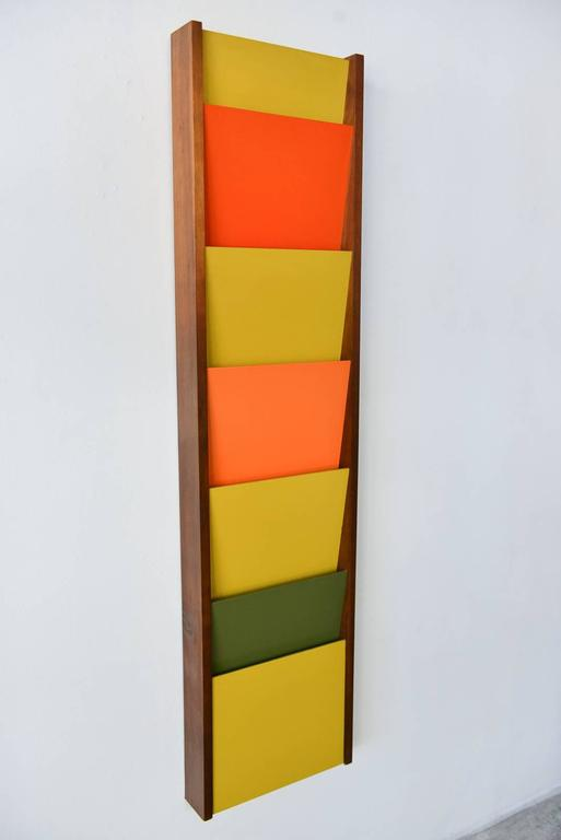 Wall Mounted Magazine Rack By Peter Pepper Circa 1970 At