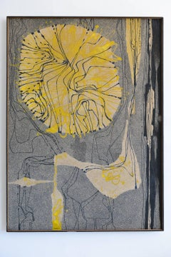 Large-Scale Enamel and Sand Painting by California Artist Robert McChesney, 1959