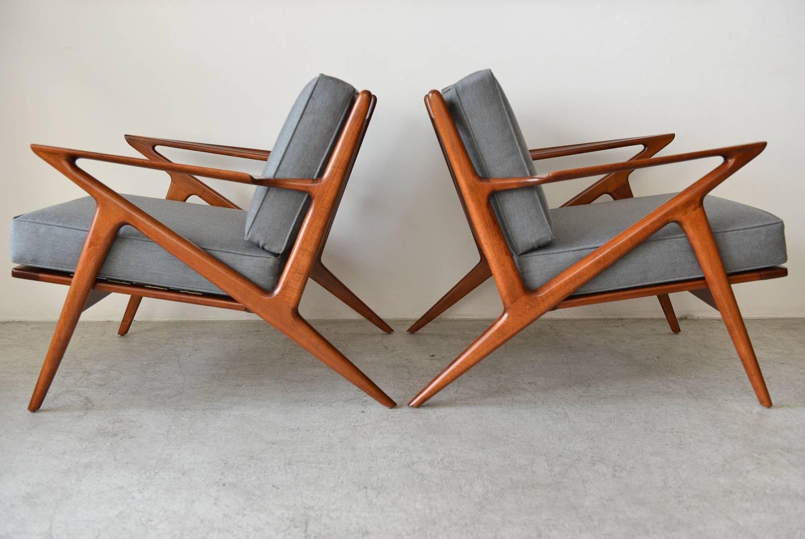Pair Of Original Poul Jensen U0027Zu0027 Chairs By Selig, ...