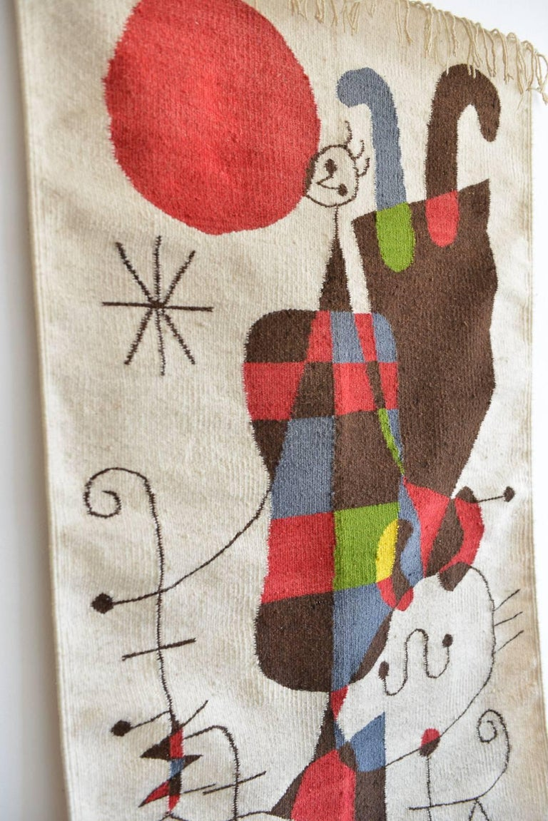 Upside Down Figures Tapestry In The Style Of Miro At 1stdibs