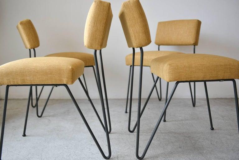 Rare Set Of Four Iron Chairs By Vista Of California Circa