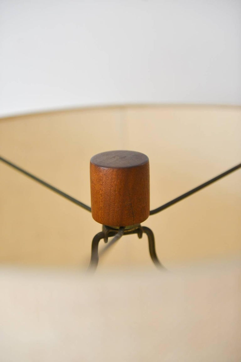 Ceramic Walnut Floor Lamp by Gordon and Jane Martz, Marshall Studios, circa 1965 For Sale