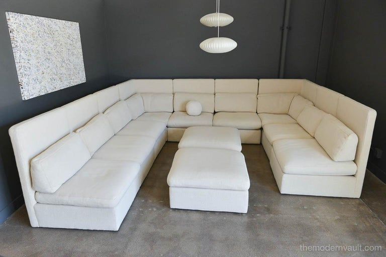 Mid-Century Modern Sectional High Back Sofa by Milo Baughman for Thayer Coggin, 1976 For Sale
