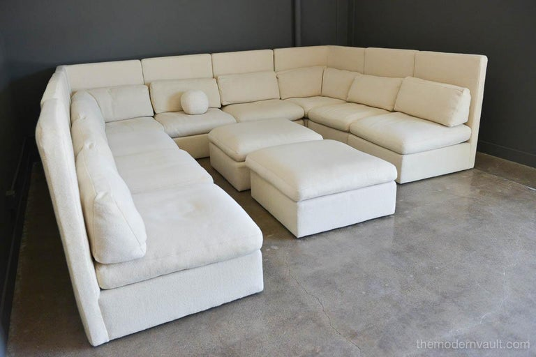 Sectional High Back Sofa by Milo Baughman for Thayer Coggin, 1976 In Excellent Condition For Sale In Costa Mesa, CA
