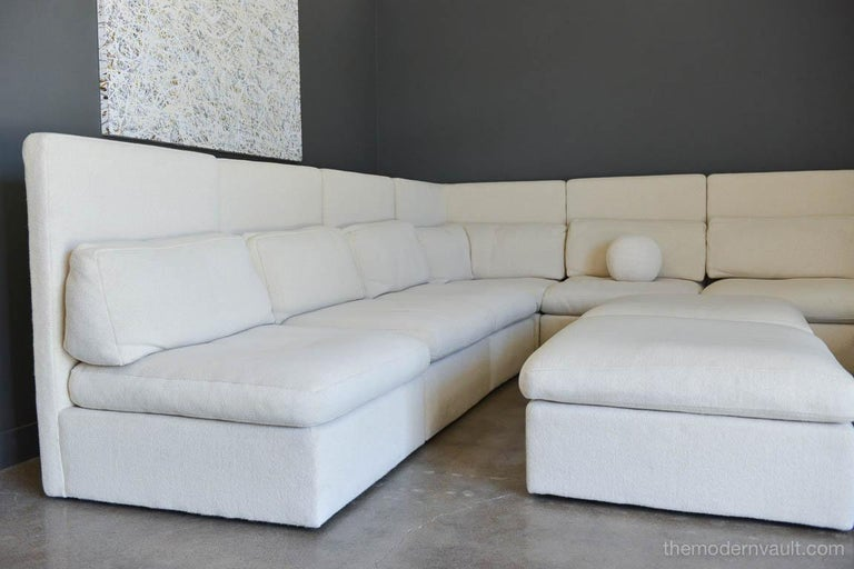 Late 20th Century Sectional High Back Sofa by Milo Baughman for Thayer Coggin, 1976 For Sale