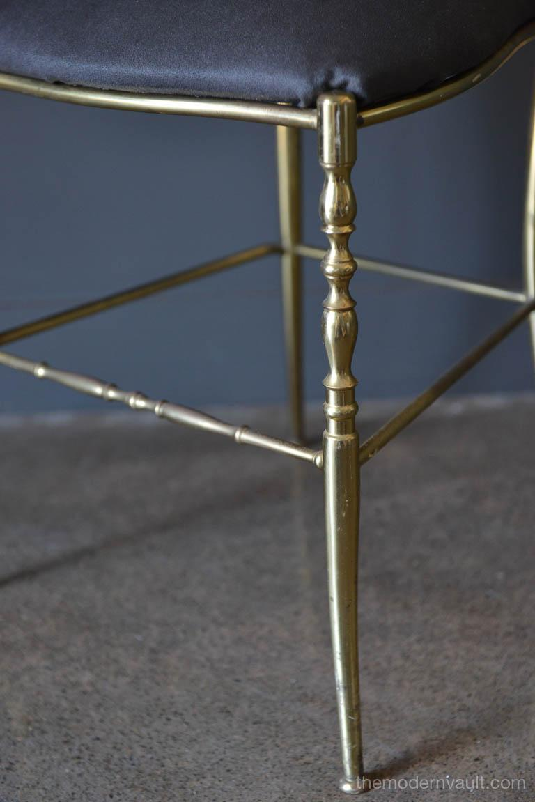 Italian Brass Chiavari Chair, circa 1950 For Sale 1