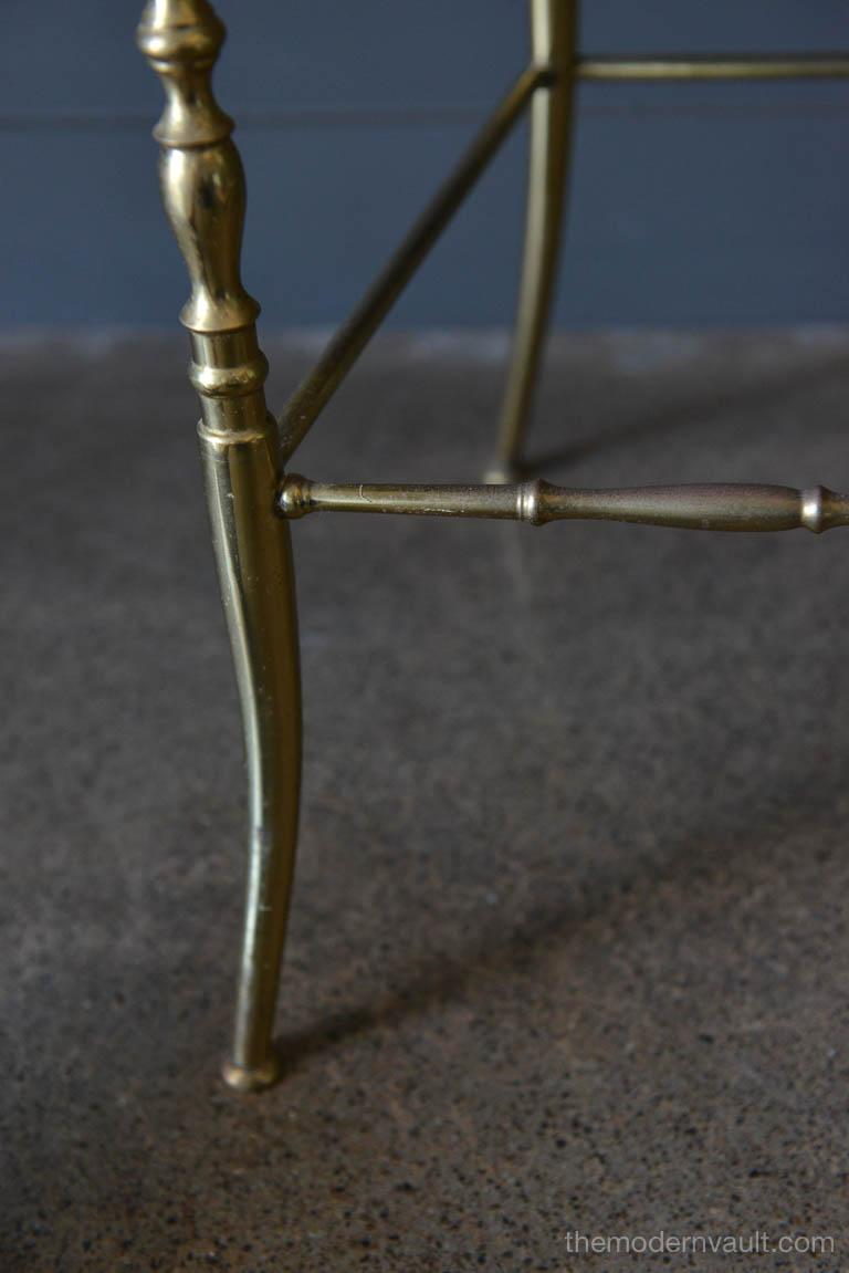 Italian Brass Chiavari Chair, circa 1950 For Sale 2
