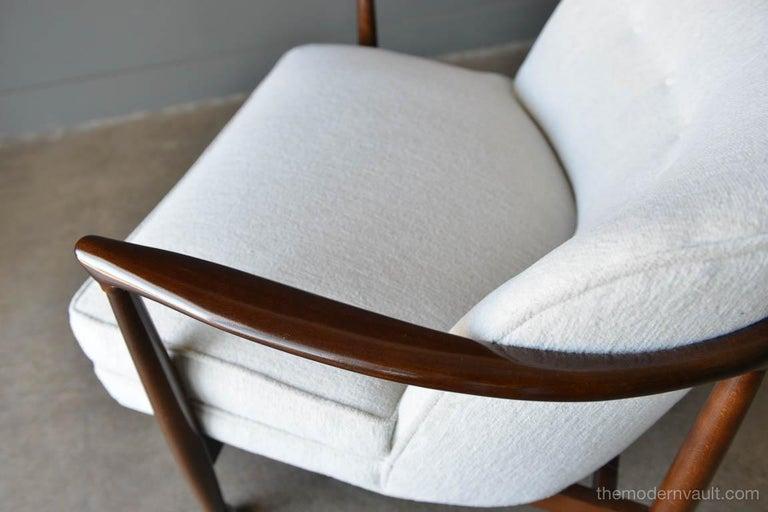 Finn Andersen for Selig Denmark Sculpted Barrel Back Lounge Chairs, circa 1960 For Sale 4