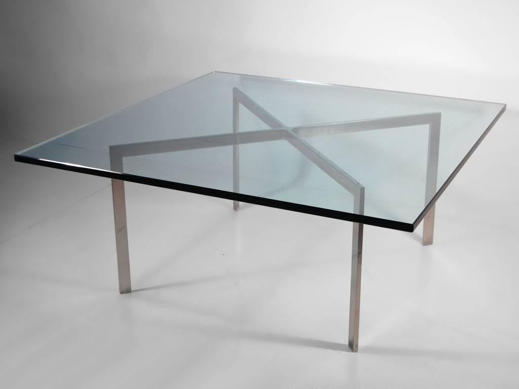 Early Chrome And Glass Coffee Table By Mies Van Der Rohe For Knoll, Circa  1968 For Sale At 1stdibs
