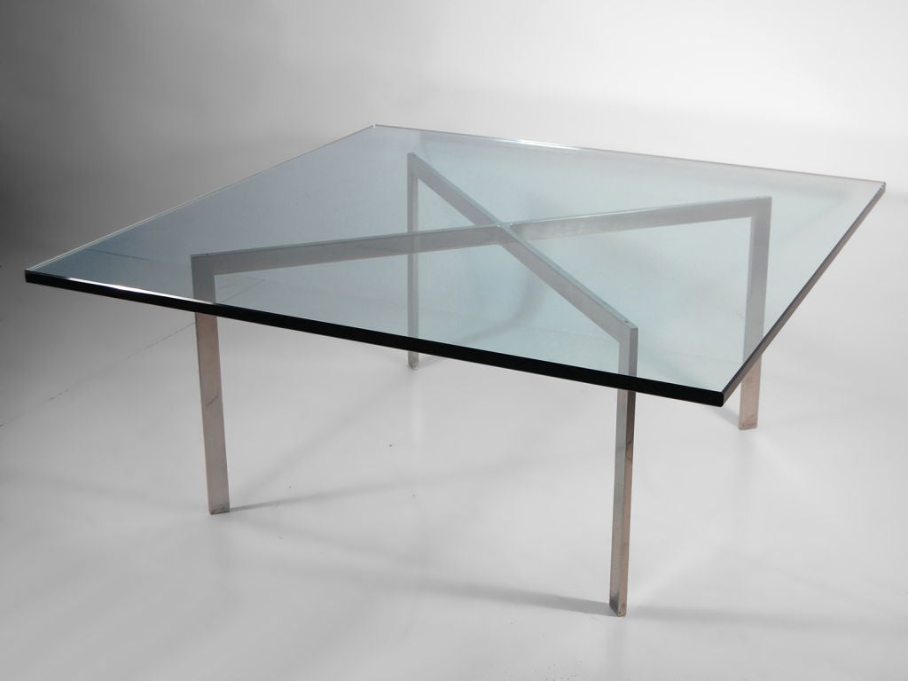 Superieur Early Chrome And Glass Coffee Table By Mies Van Der Rohe For Knoll, Circa  1968 For Sale At 1stdibs