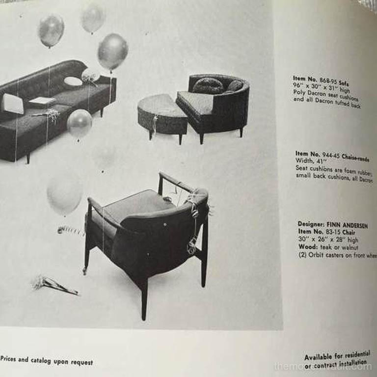 Finn Andersen for Selig Denmark Sculpted Barrel Back Lounge Chairs, circa 1960 For Sale 6