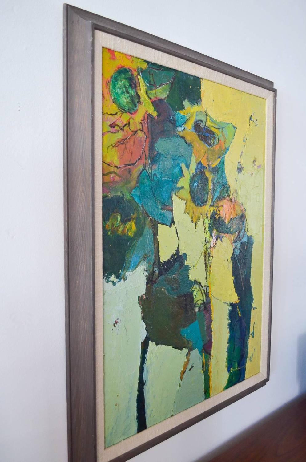 Abstract Oil On Canvas By Rose Baumruker At 1stdibs