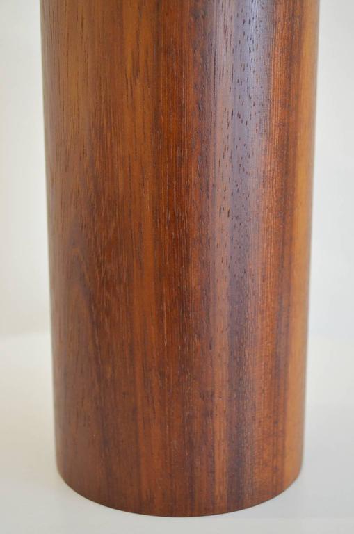 Danish Modern Solid Teak Column Lamp at 1stdibs