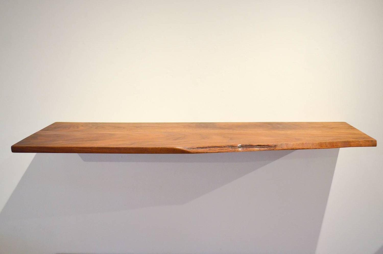 george nakashima live edge floating wall shelf for sale at. Black Bedroom Furniture Sets. Home Design Ideas