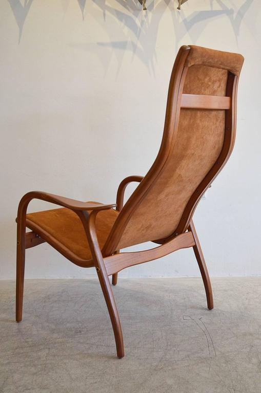 Suede Lamino Chair by Yngve Ekstrom at 1stdibs