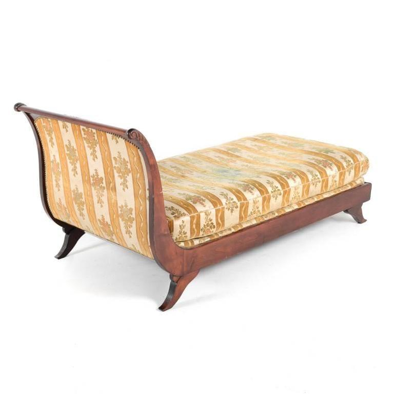 French mahogany lit de repos or chaise longue from france for Chaise longue france
