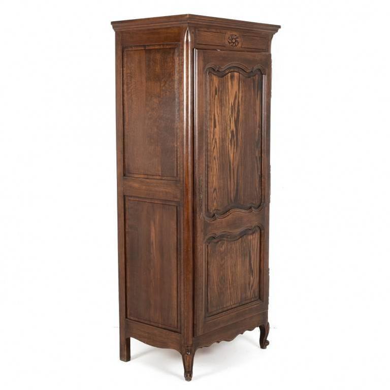 Oak Panelled Single Door Armoire, Circa 1940 3
