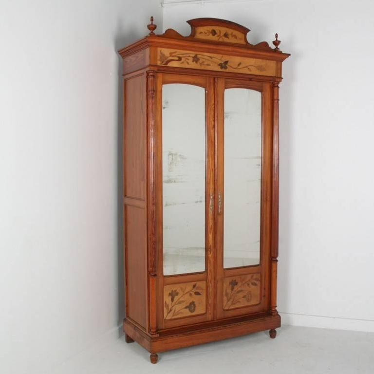 antique french art nouveau armoire c 1890 at 1stdibs. Black Bedroom Furniture Sets. Home Design Ideas