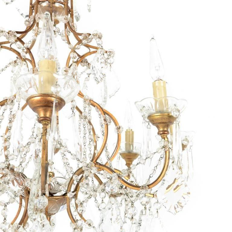 French crystal birdcage chandelier for sale at 1stdibs 20th century french birdcage chandelier made in france gilt bronze with original crystal and wiring aloadofball Choice Image