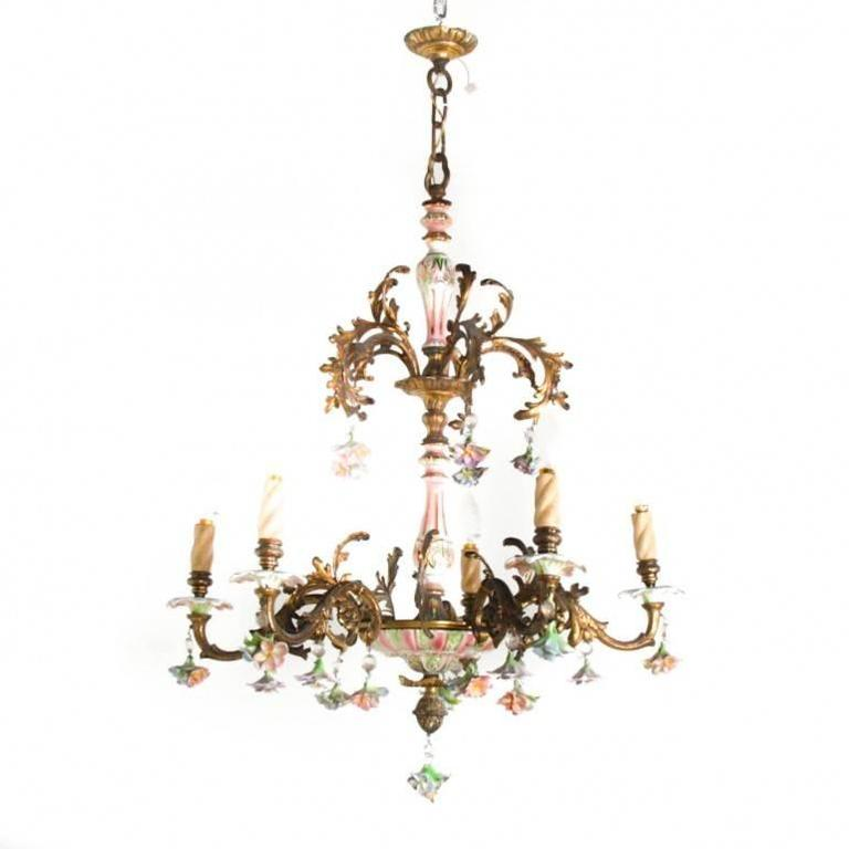 Iron And Crystal Chandeliers