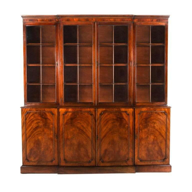 French Antique Mahogany Bookcase Circa 1920 For