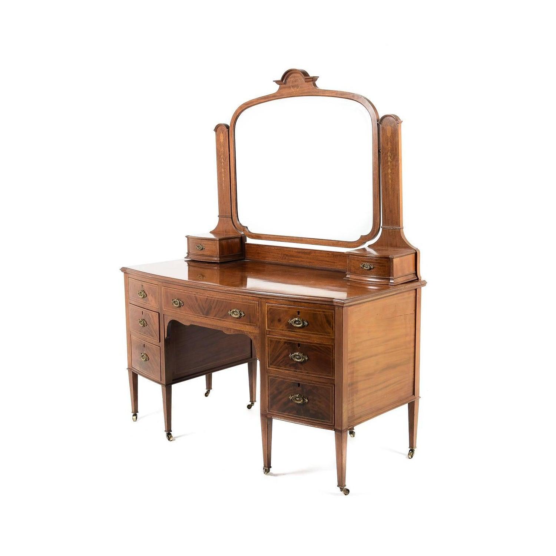 - Antique English Edwardian Mahogany Inlaid Vanity At 1stdibs