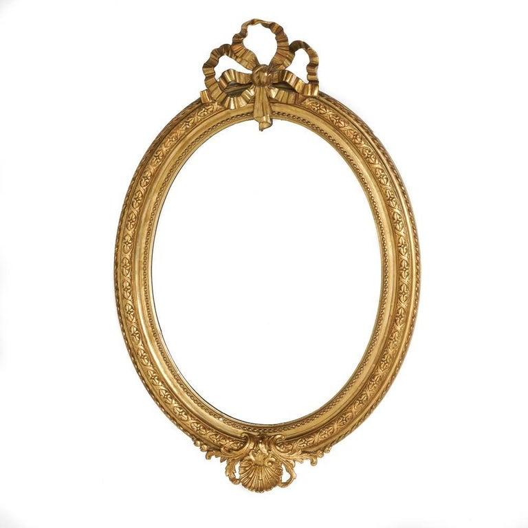 Oval Gilt Mirror, circa 1875