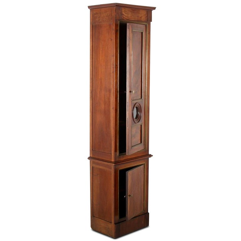 19th Century French 'Clock Case' Cabinet In Good Condition For Sale In Vancouver, British Columbia