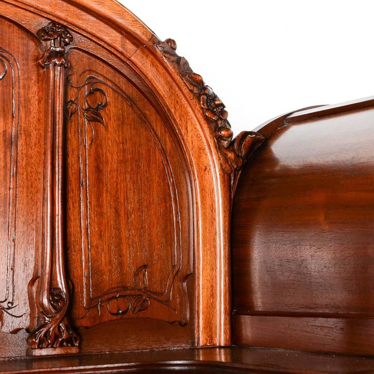 french art nouveau sideboard in solid mahogany circa 1910 at 1stdibs. Black Bedroom Furniture Sets. Home Design Ideas
