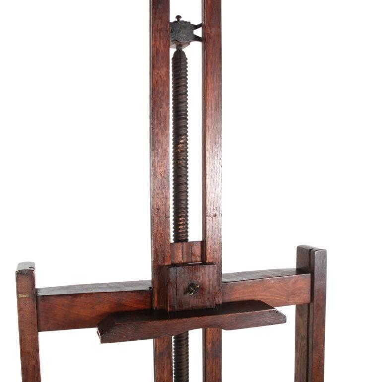 19th Century French Solid Wood Easel For Sale at 1stdibs