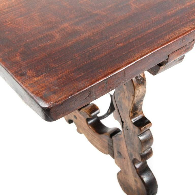 Antique Italian Trestle Table From France 3