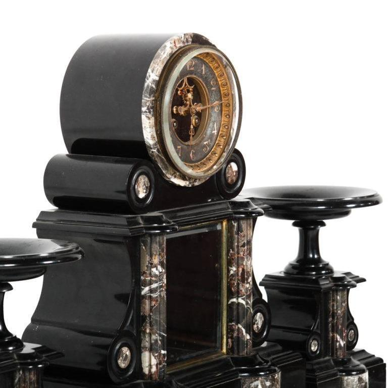 French Napoleon Iii Clock With Original Mercury Pendulum