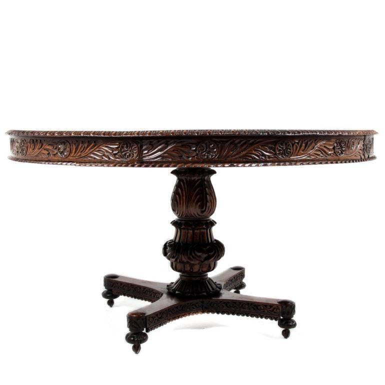 highly carved anglo indian table for sale at 1stdibs
