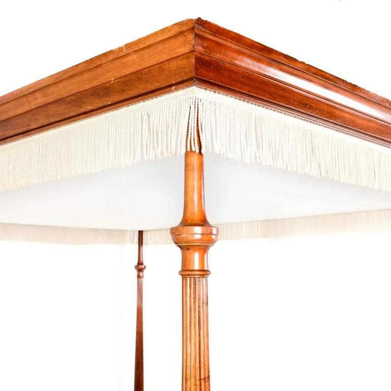 French solid mahogany georgian style canopy bed for sale for French style gazebo