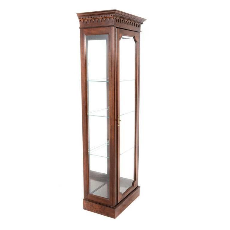 tall vintage georgian style vitrine at 1stdibs. Black Bedroom Furniture Sets. Home Design Ideas
