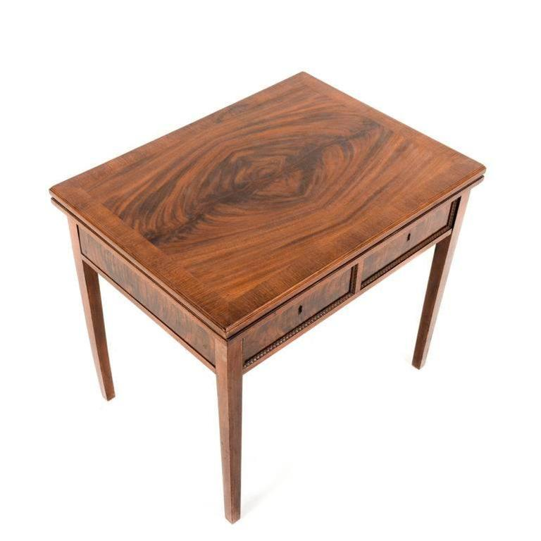 Small French Mahogany Writing Table Or Vanity For Sale At