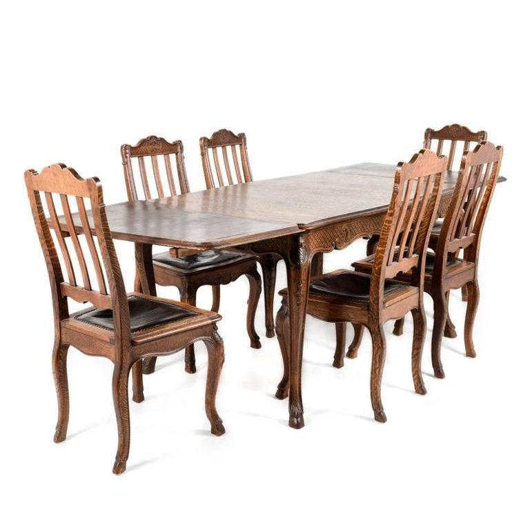antique belgian solid oak louis xvstyle dining chairs circa 5