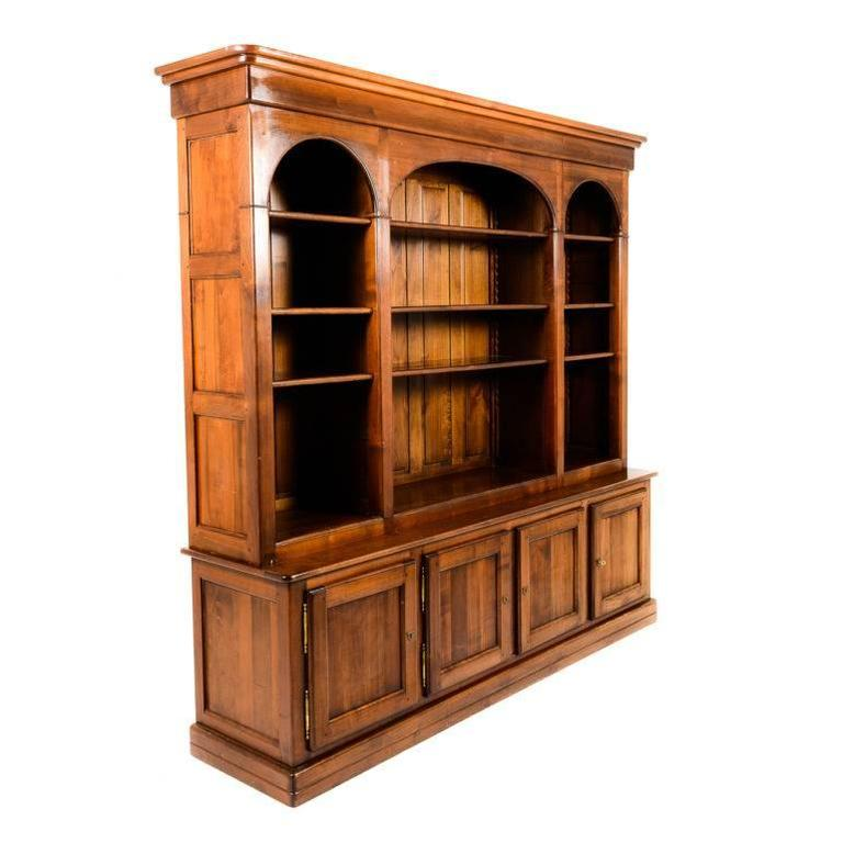 Solid Cherry Bookcase Of Superior Quality From France