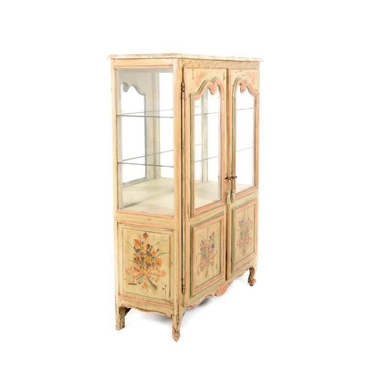 Antique French Painted Cabinet, Circa 1900 In Good Condition For Sale In Vancouver, British Columbia